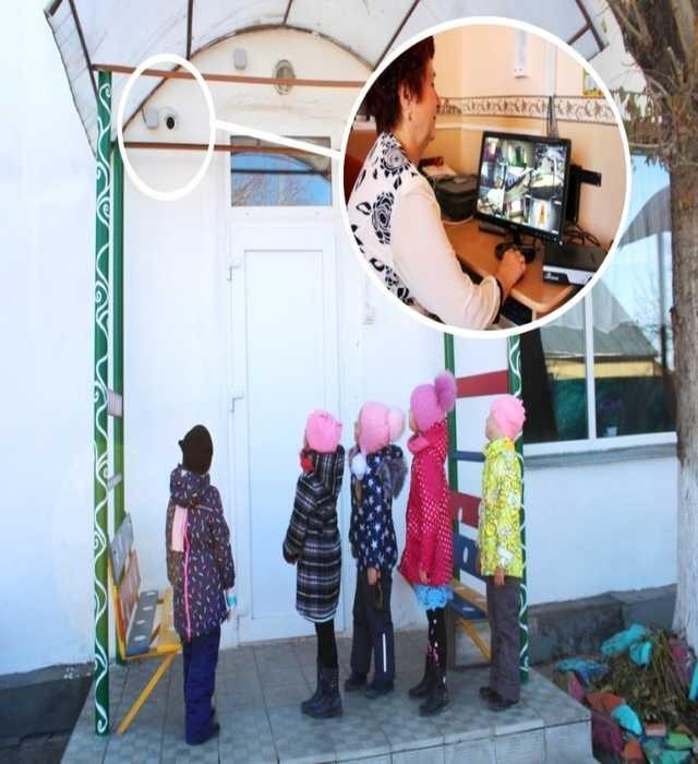 Видеонаблюдение за детским садом удаленно