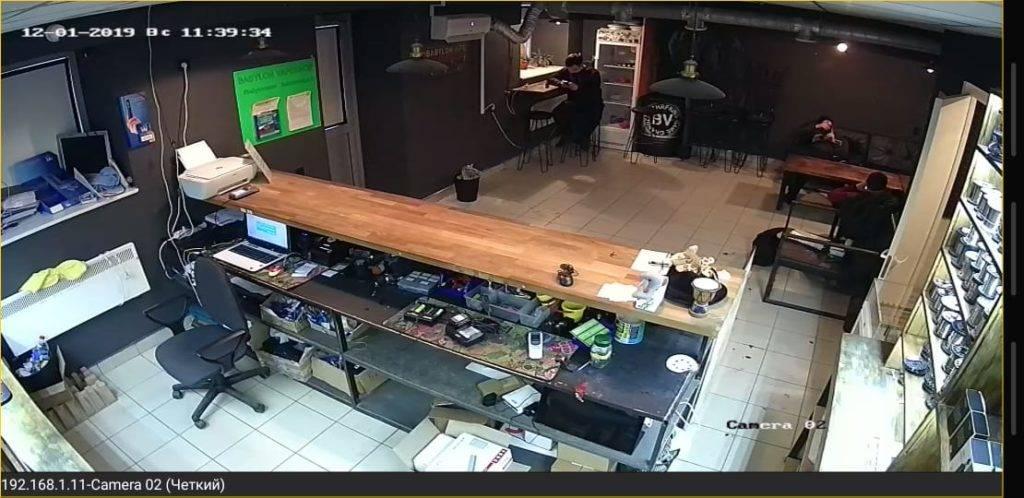 Видеонаблюдение касса магазин