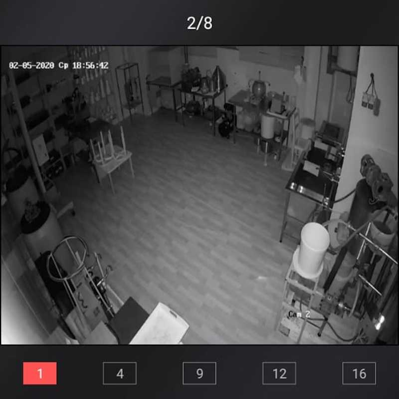 Ночная съемка видеонаблюдения