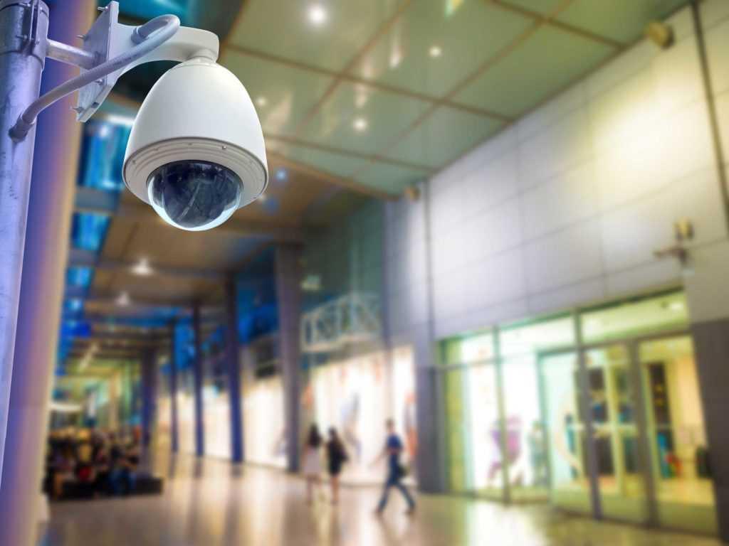 Установка видеонаблюдения в торговом центре