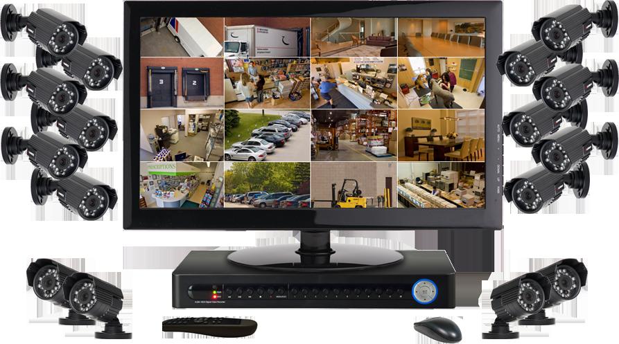IP видеонаблюдение 16 камер