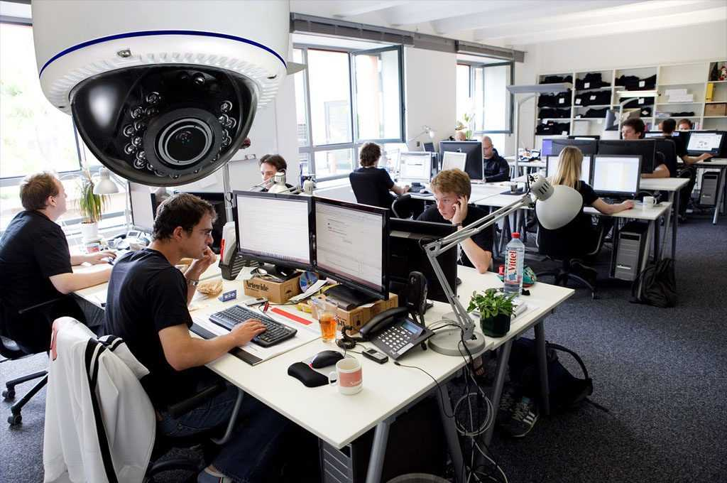 Камера видеонаблюдения для офиса со звуком