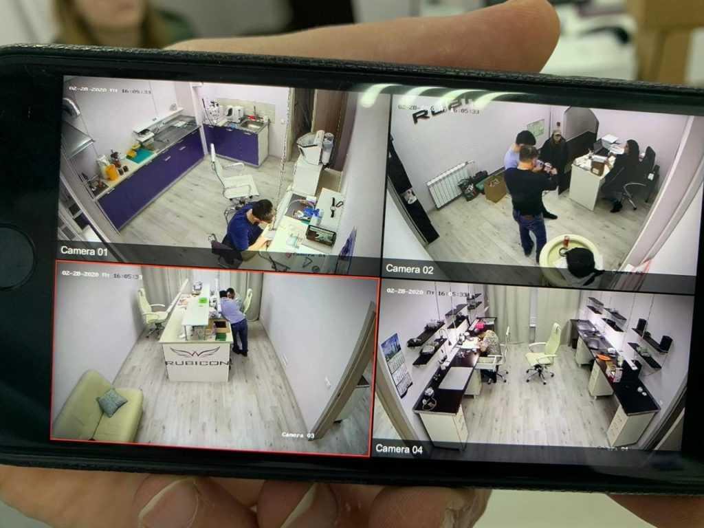 Кейс – установка видеонаблюдения для офиса в Москве