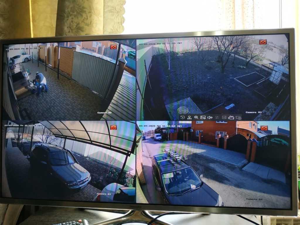 Пример видеонаблюдение в частный дом в Краснодаре