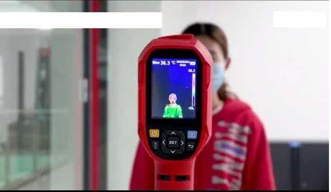 Бесконтактный тепловизор для измерения температуры тела человека