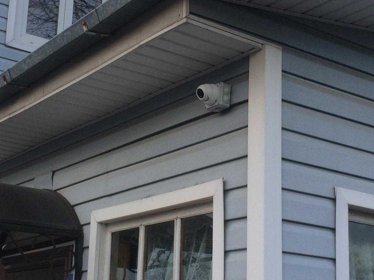 Монтаж наружной камеры видеонаблюдения