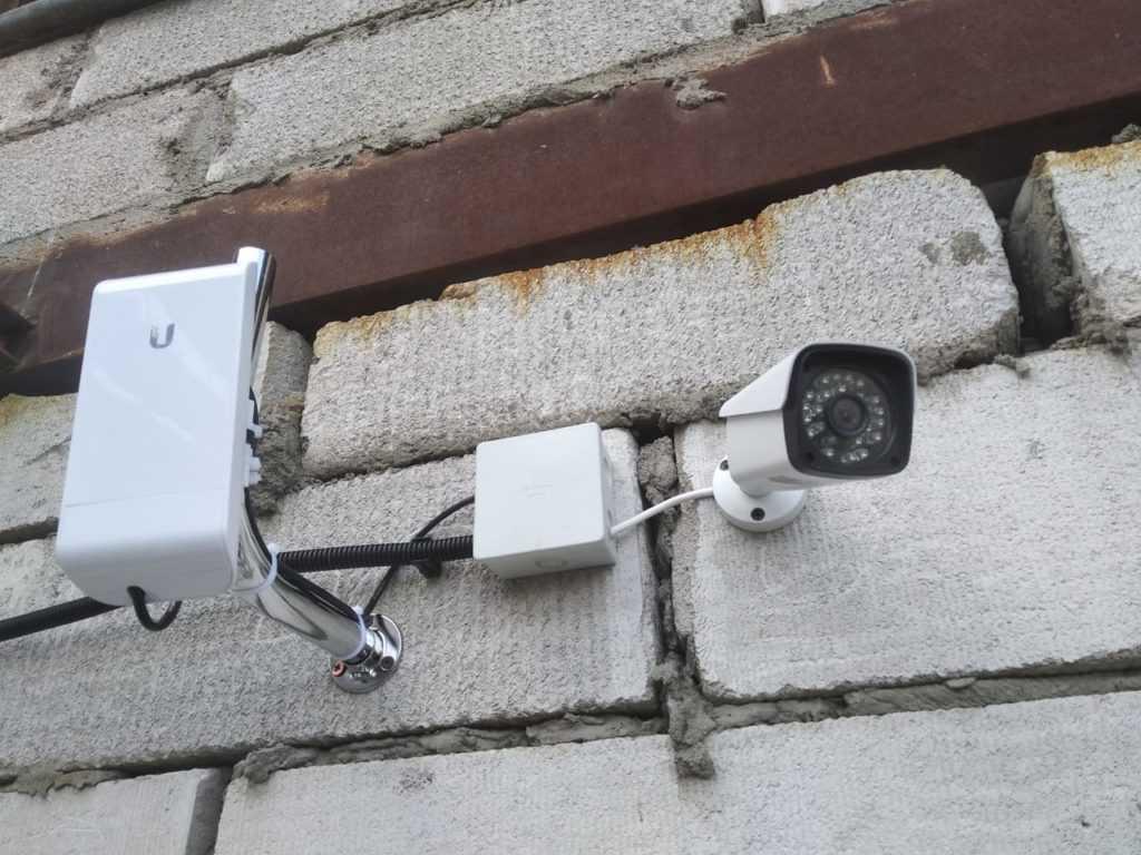 точка доступа с камерой видеонаблюдения
