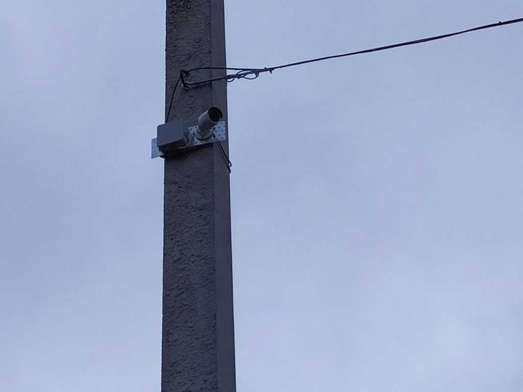 Установка видеонаблюдения на столбе