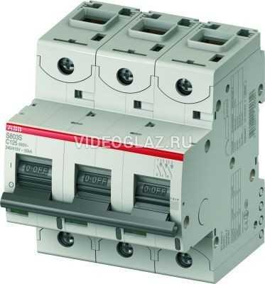 ABB S803C Автоматический выключатель 3P 100A (С) 25кА (4.5 мод.) (2CCS883001R0824)