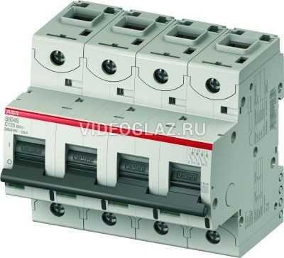 ABB S804C Автоматический выключатель 4P 100A (С) 25кА (6 мод.) (2CCS884001R0824)