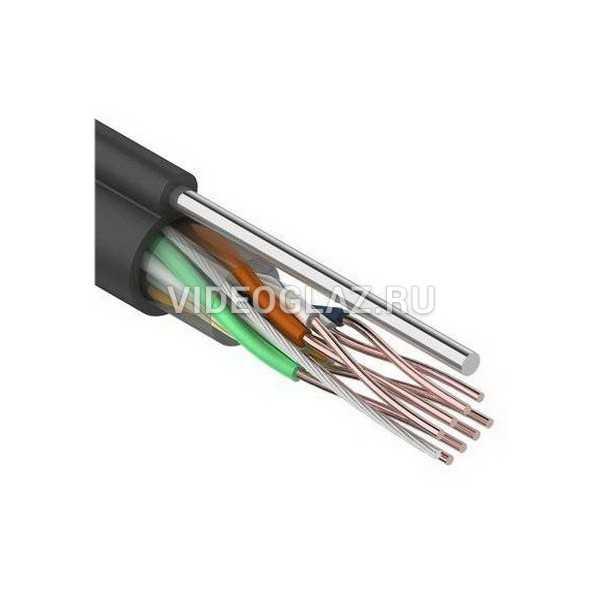 REXANT Кабель UTP 4PR 24AWG CAT5e 305м outdoor + трос*1 (01-0046)