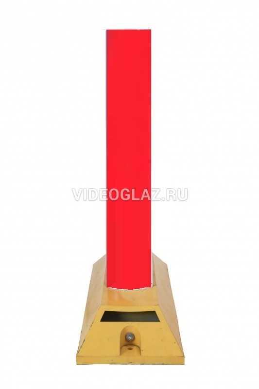 Делиниатор дорожный резиновый ДДР-610  с флажком. Пленка красная СВО. сплошная