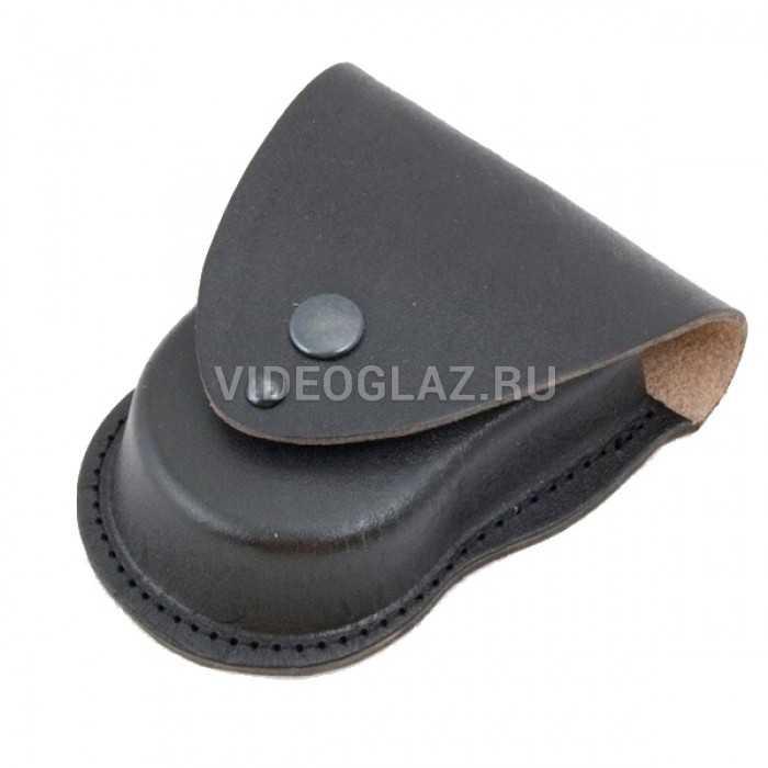 Черный формованный чехол для наручников БРС