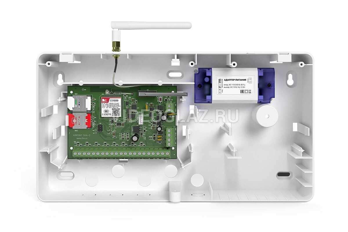 Ритм Контакт GSM-5A v.2 с внешней антенной в корпусе под АКБ 1,2 Ач