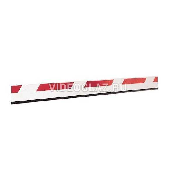 FAAC Стрела прямоугольная с демпфером и светоотражающими наклейками, 25х90х2815мм (428089)