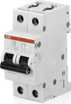 ABB S202 Автоматический выключатель 2P 25А (С) 6kA (2CDS252001R0254)