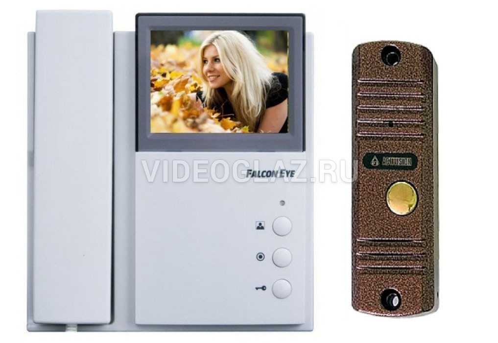 Falcon Eye Комплект видеодомофона FE-4CHP2 + AVC-305 (PAL) Медь