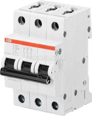 ABB S203 Автоматический выключатель 3P 6А (Z) 6кА (2CDS253001R0378)